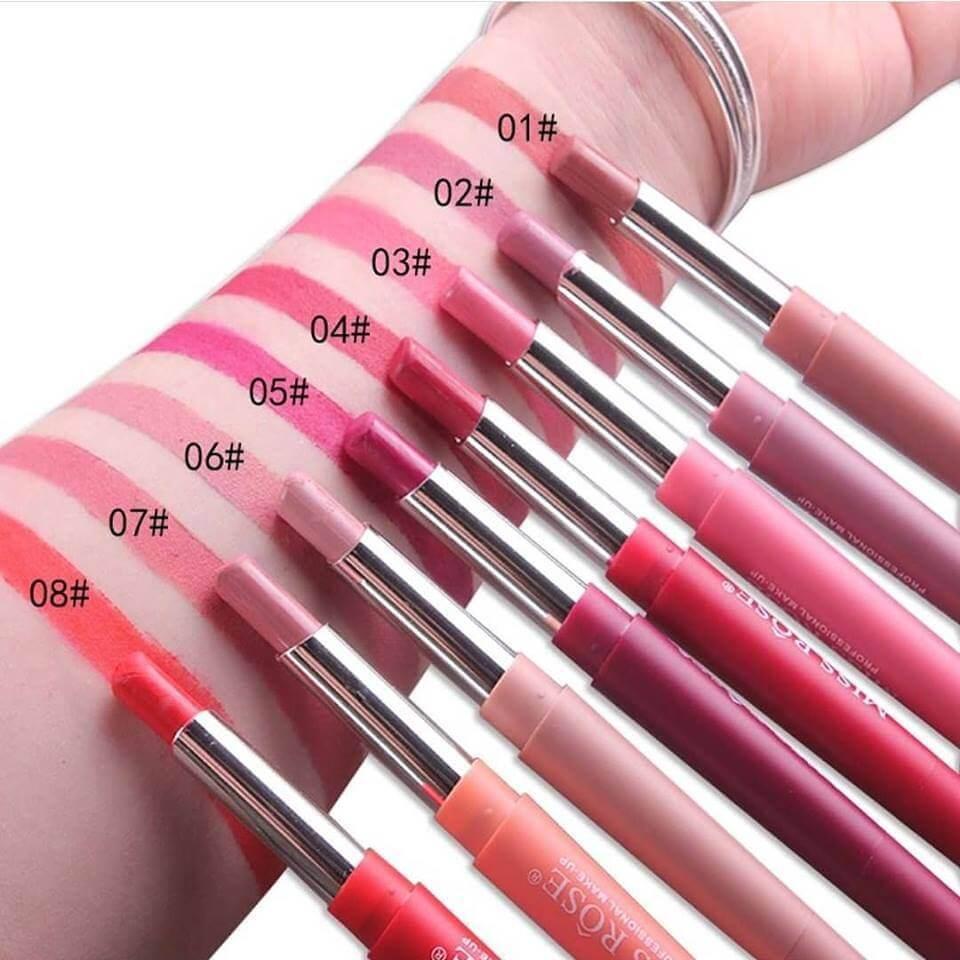 miss rose lipstick 2 in 1 and lipliner in pakistan sanwarna.pk