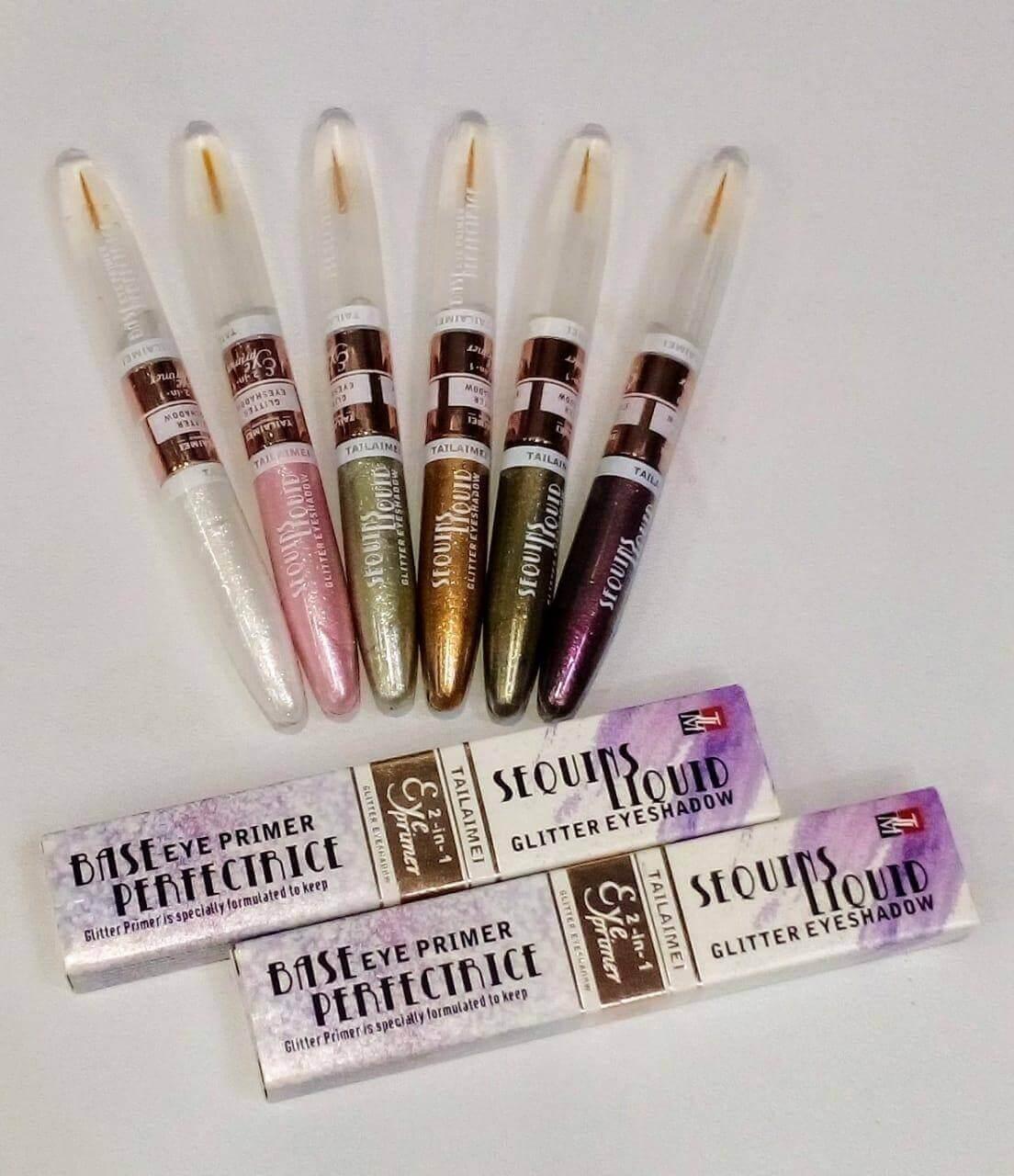 Pack Of 6 Glitter Eyeshadow Liquid and Eyeshadow Sequins price in pakistan sanwarna.pk