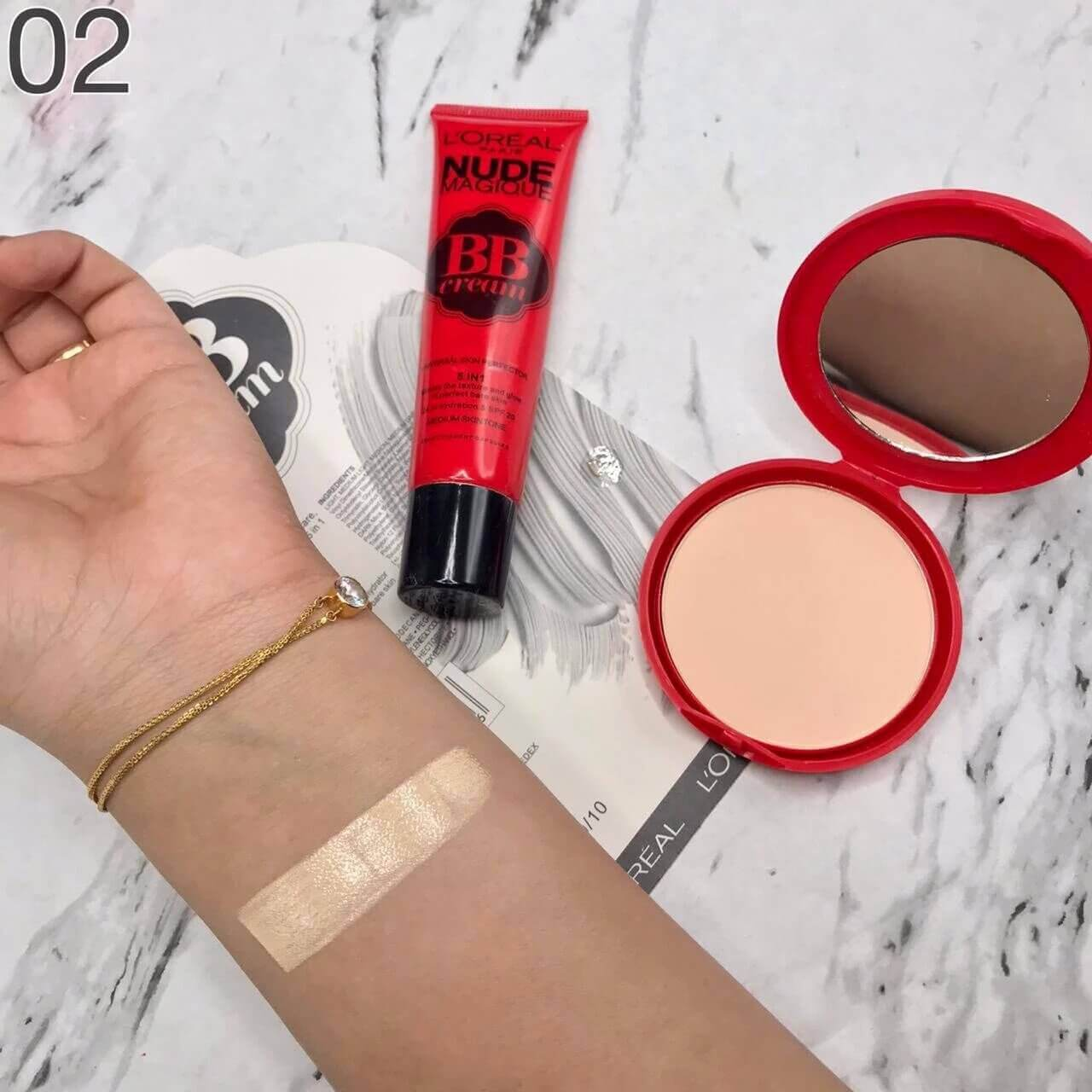 2 in 1 Face Powder And Foundation set in pakistan sanwarna.pk