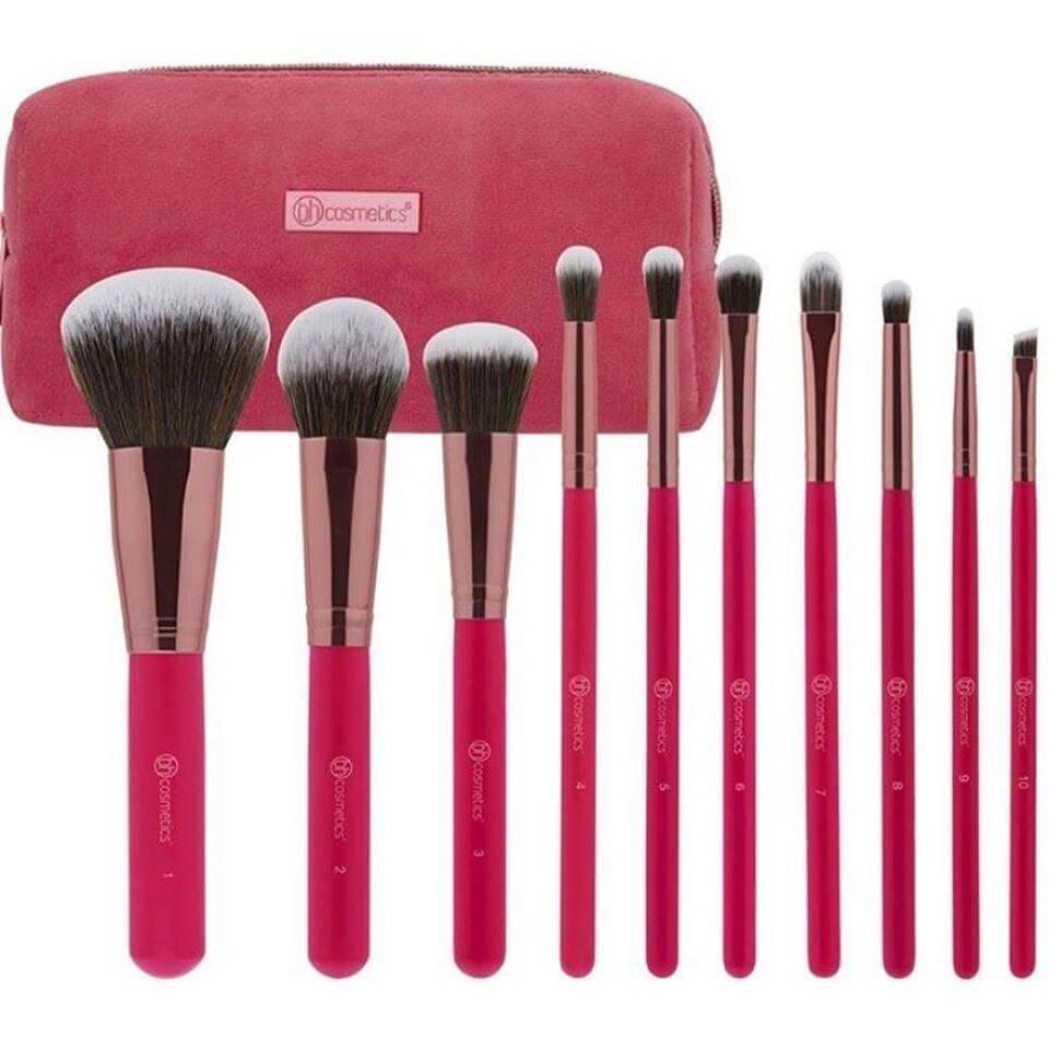 bh cosmetics pink studded elegance brush set in pakistan sanwarna.pk