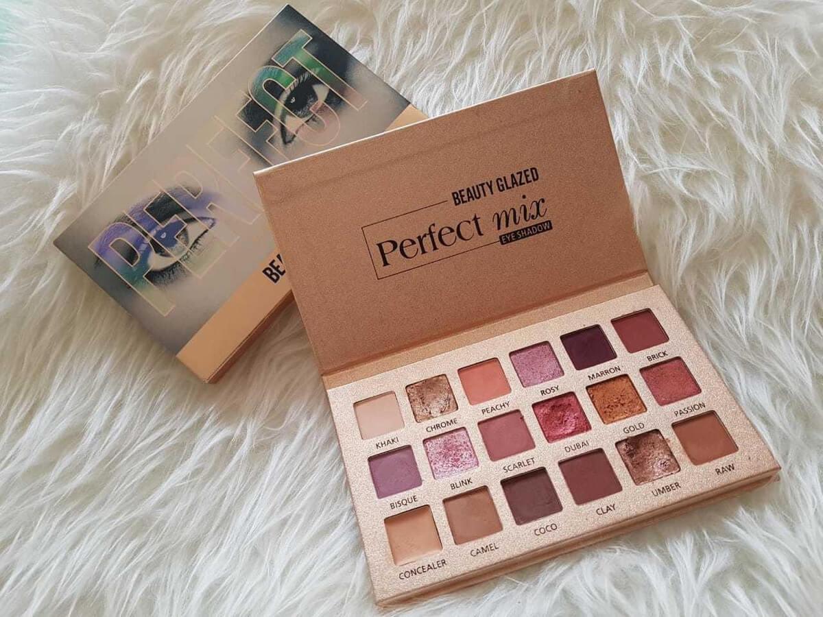 Beauty Glazed Perfect Mix 18 Eyeshadow Color Palettes in pakistan sanwarna.pk