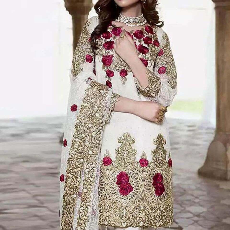 white dress designs pakistani sanwarna.pk