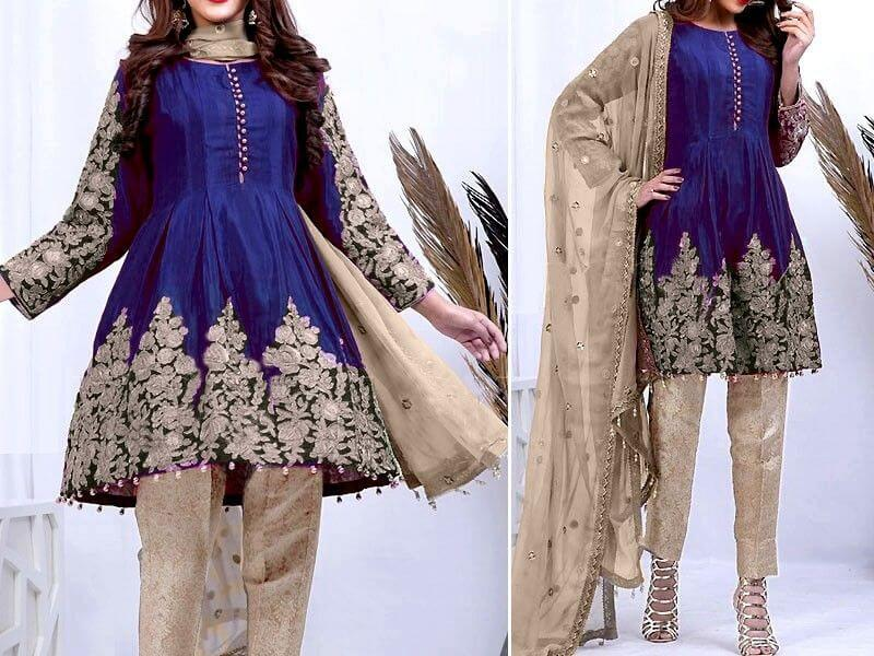 Heavy Embroidered Chiffon Suit with Net Dupatta Price in pakistan sanwarna.pk