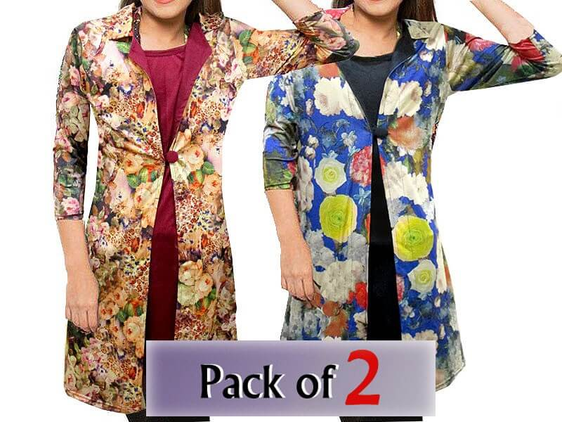 Pack of 2 Shrug Style Floral Tops Price in Pakistan sanwarna.pk