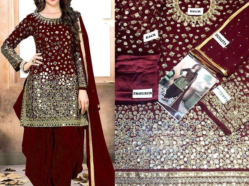 mirror work dresses in pakistan sanwarna.pk