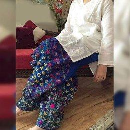 Lawn Pulkari Heavy Embroidery 2 Pec Dress in pakistan sanwarna.pk