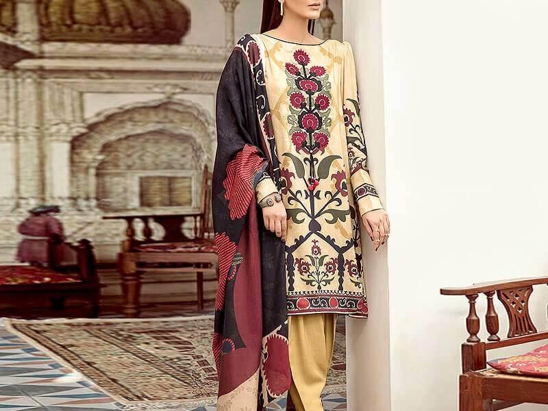 Unstitched Lawn Suit in pakistan sanwarna.pk