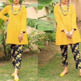 2-Pcs Heavy Sequins Embroidered Lawn Dress in pakistan sanwarna.pk