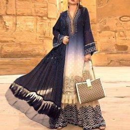 Designer Embroidered Lawn Dress 2020 with Lawn Dupatta in pakistan sanwarna.pk