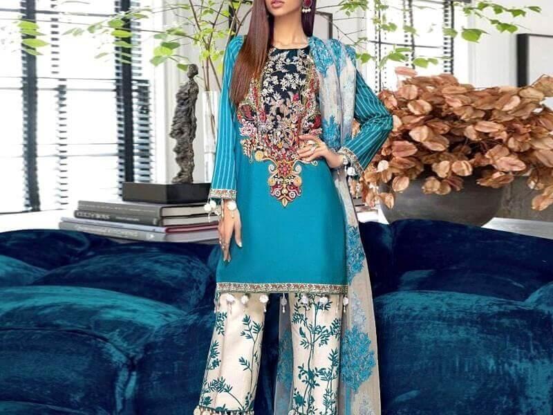 pakistani lawn suits with chiffon dupatta sanwarna.pk