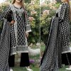 VS Classic Lawn Suit with Lawn Dupatta Unstitched in pakistan sanwarna.pk