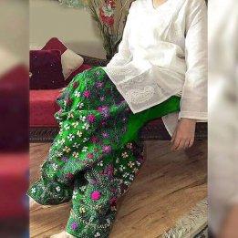 2-Pcs Embroidered Phulkari Lawn Dress in pakistan sanwarna.pk