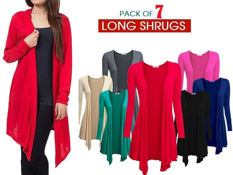 7 Women's Cotton Shrugs Bundle Pack Price in Pakistan sanwarna.pk