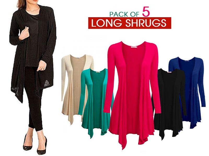 5 Women's Cotton Shrugs Bundle Pack Price in Pakistan sanwarna.pk