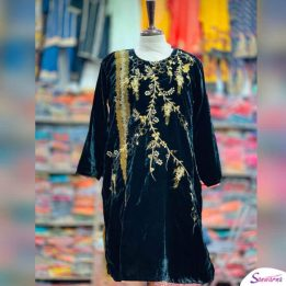 Latest Velvet Kurti Design for ladies 2021 in Pakistan