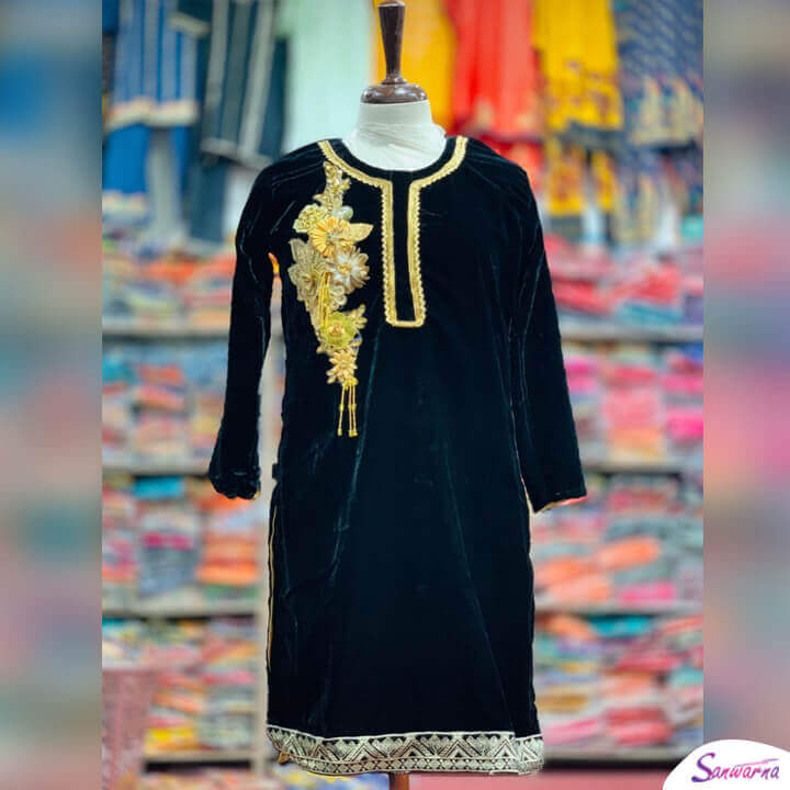velvet kurti designs 2021 in Pakistan sanwarna.pk