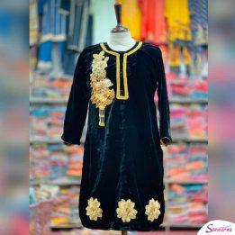 stylish velvet kurtis sanwarna.pk