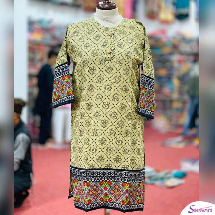 Khaddar Neck Designs for Kurti 2021 sanwarna.pk
