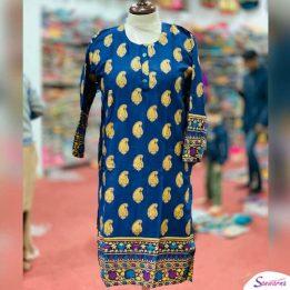 New Khaddar Kurti Designs 2021 in Blue