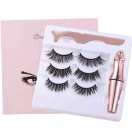 Reusable 3D Magnetic Eyelashes with Applicator Buy Online in Pakistan