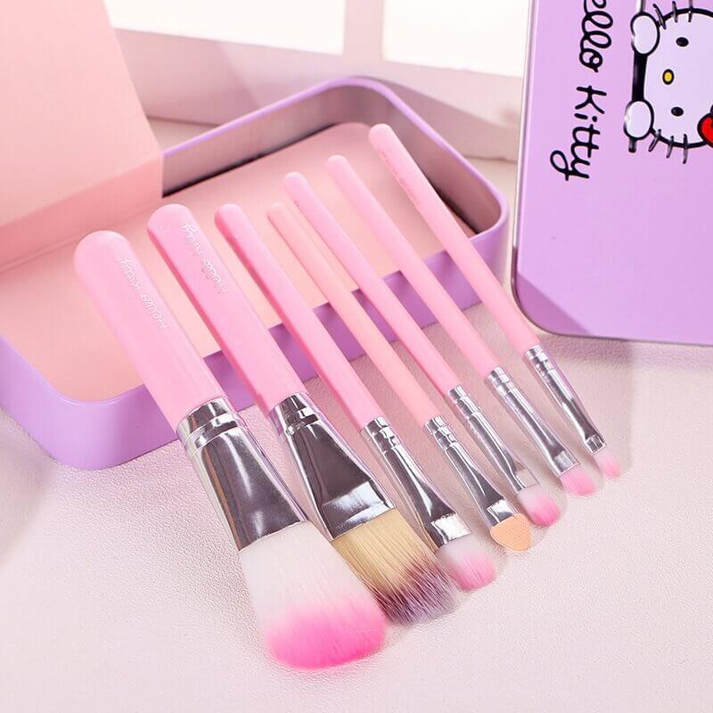 7 Pieces Travel Makeup Brushes Sanwarna.pk