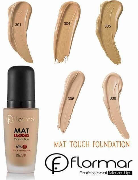 flormar mat touch foundation shades