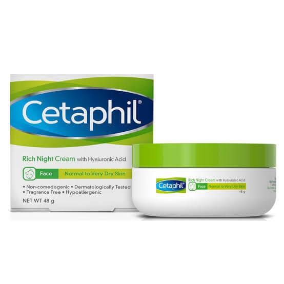 cetaphil rich hydrating night cream benefits sanwarna.pk