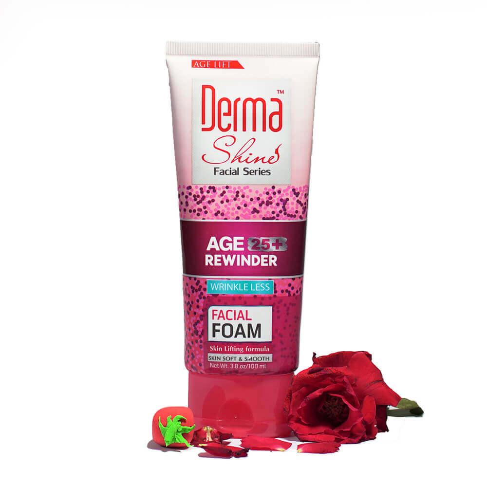 derma shine age rewinder facial foam review sanwarna.pk