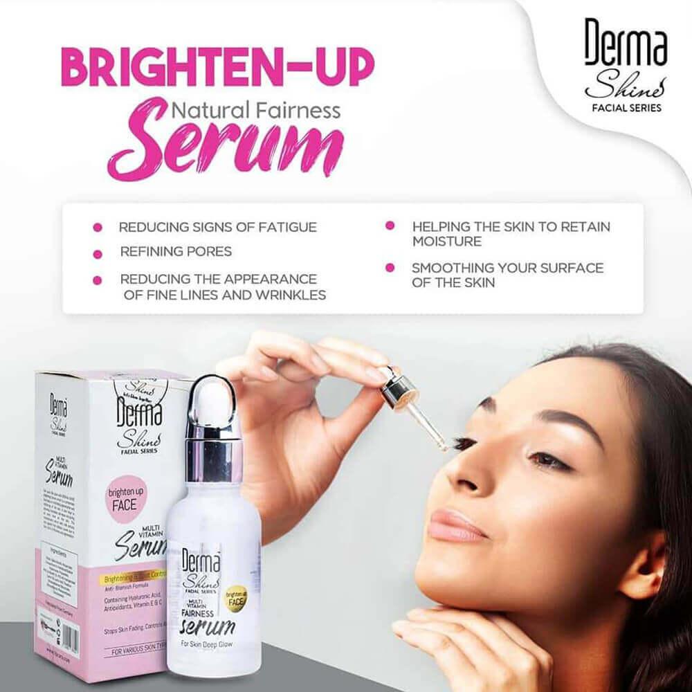 derma shine brighten up fairness face serum review sanwarna.pk