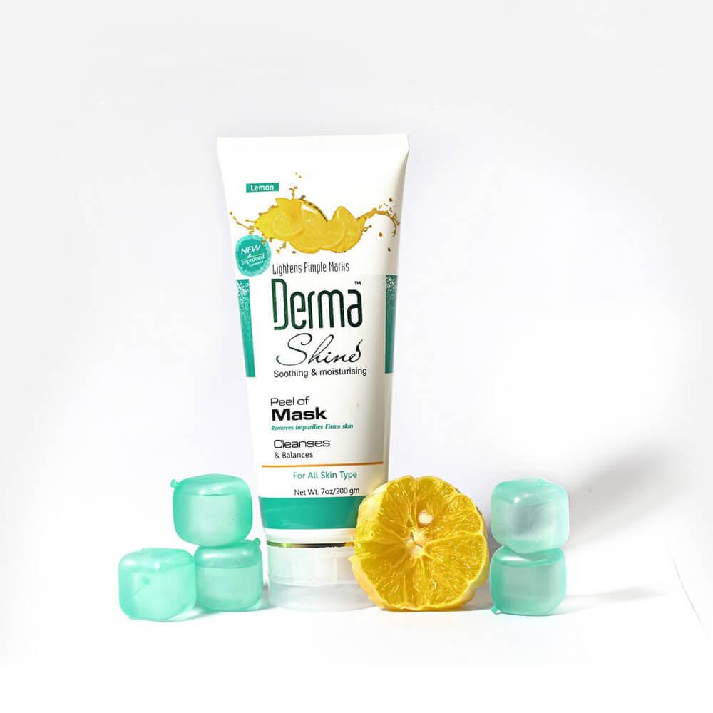 derma shine lemon peel off mask sanwarna.pk