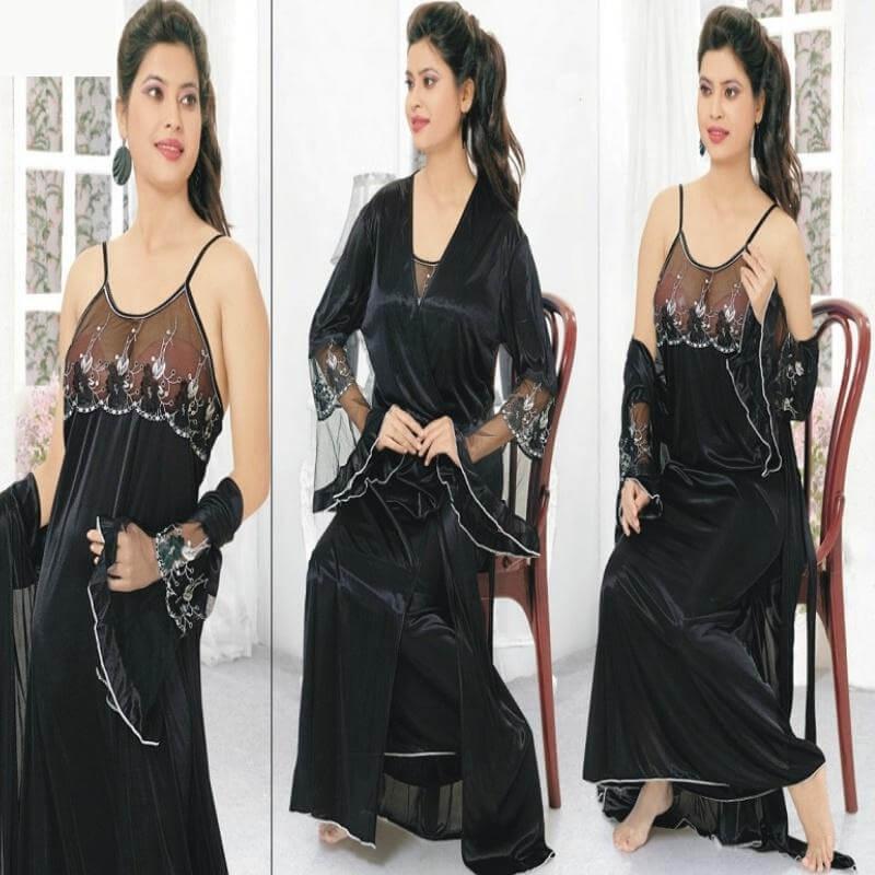 beautiful nightgown and robe sets sanwarna.pk